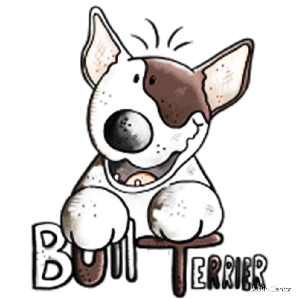 Happy Bull Terrier by Justin Clanton