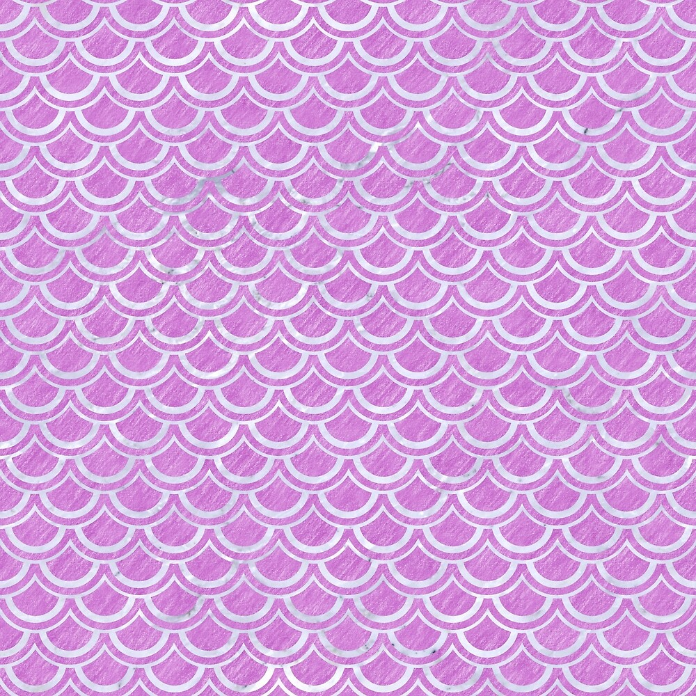 SCALES2 WHITE MARBLE & PURPLE COLORED PENCIL by johnhunternance