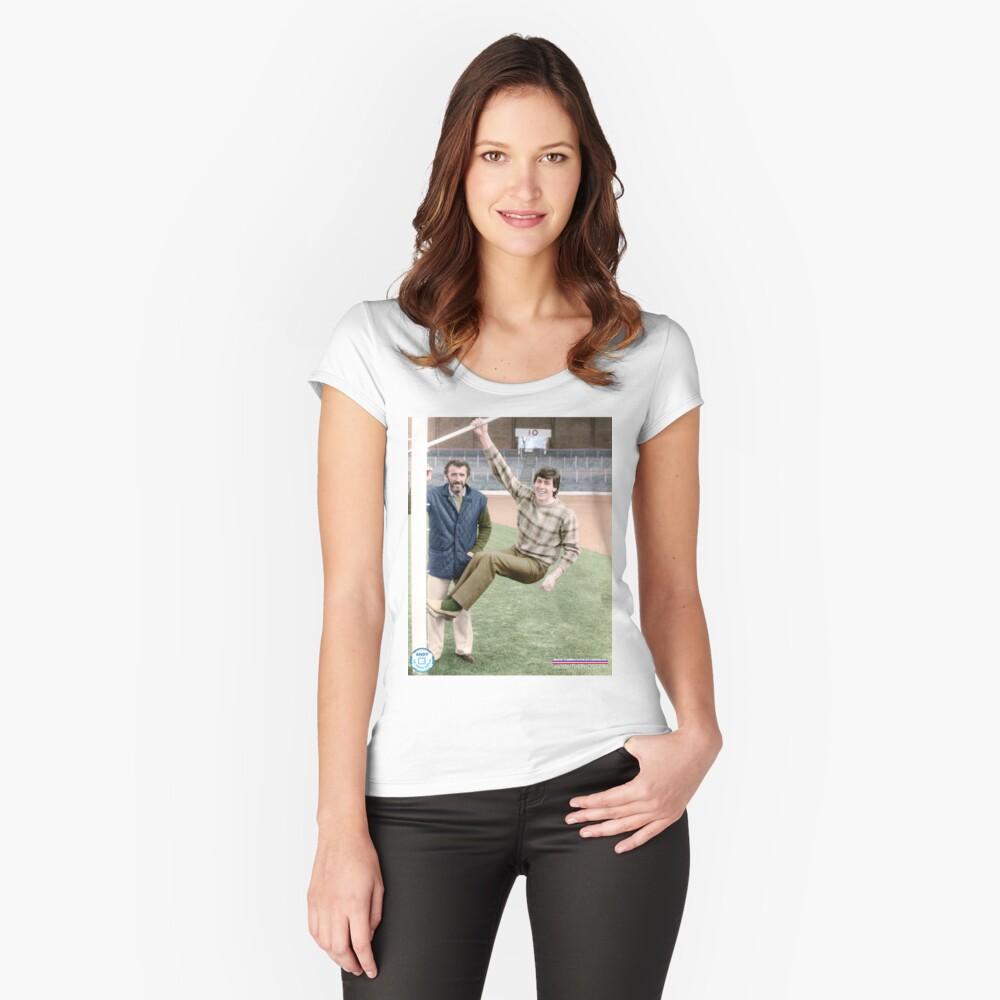 Danny McGrain Pat Bonnar in colour Women's Fitted Scoop T-Shirt Front