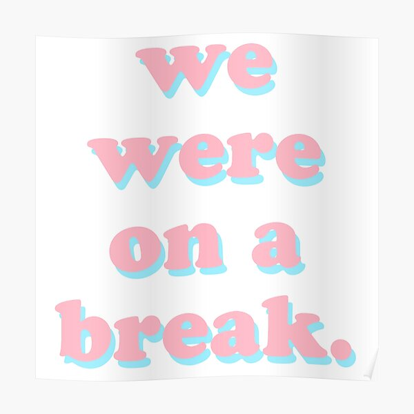 We Were On A Break Poster