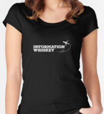 Information Whiskey | Whiskey Gifts | Whiskey Shirt | Scotch Drinker | Funny Cigar Gift | Cigar Gift For Men | Cigar Gift for Dad | Cigar Shirt | Fathers Day Gift | Whiskey Lovers Gift Women's Fitted Scoop T-Shirt