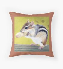 Eager  (Cute Critters - Chipmunk Collection) Throw Pillow