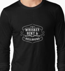 Whiskey Bent | Whiskey Gifts | Whiskey Shirt | Scotch Drinker | Funny Cigar Gift | Cigar Gift For Men | Cigar Gift for Dad | Cigar Shirt | Fathers Day Gift | Whiskey Lovers Gift Long Sleeve T-Shirt