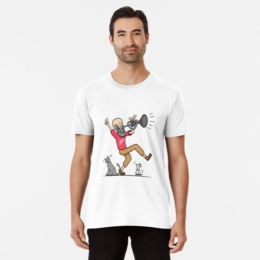 Camiseta premium para hombreJazz Beard Delante