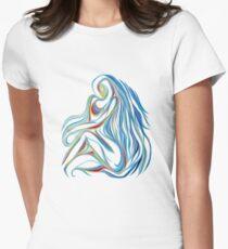Hidden Woman T Womens Fitted T-Shirt