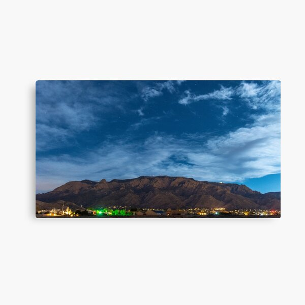 Sandia Mountains at NIght Canvas Print