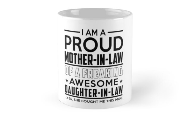 Mother In Law and Daughter In Law - Mothers Day Birthday Christmas Mom Mugs by David Uy
