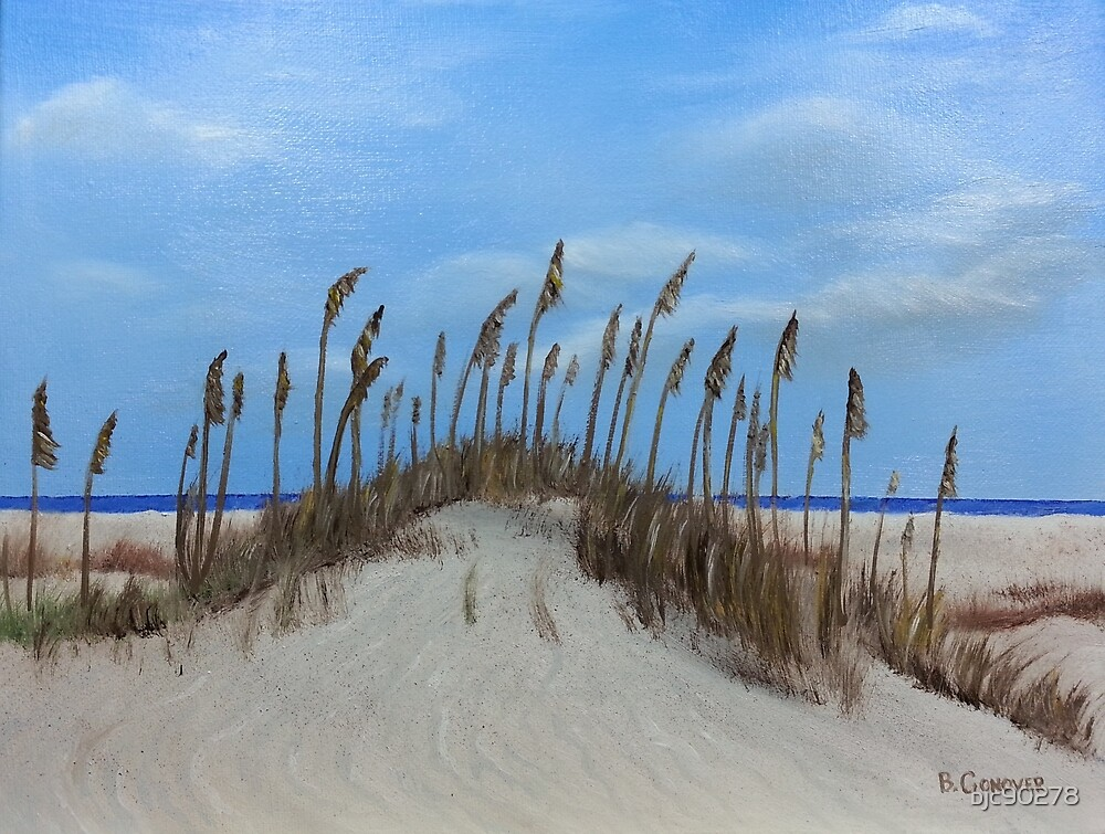 Sea Oats on a Dune by bjc90278