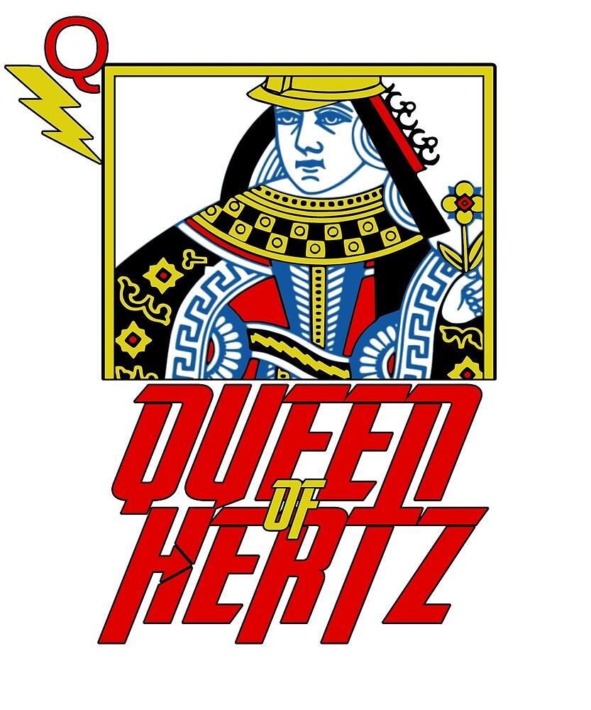 Queen of Hertz Women's Electrician Tee by Mennotti