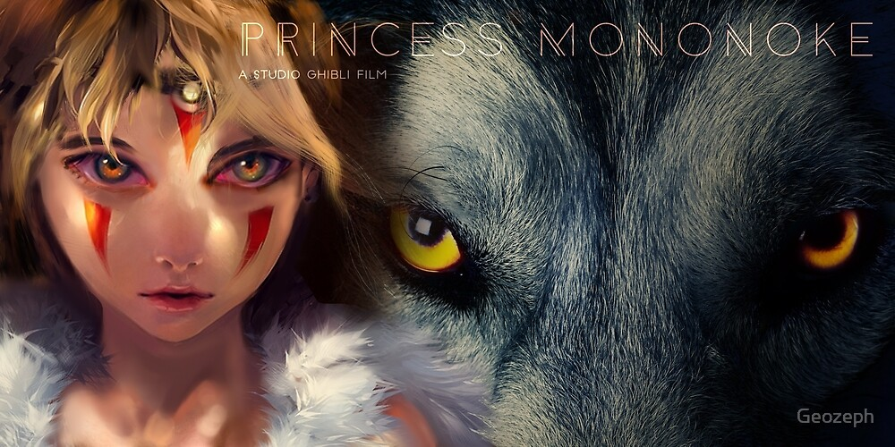 Princess Mononoke Movie Poster by Geozeph