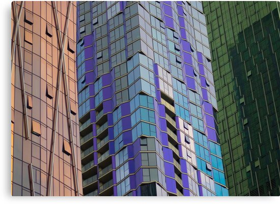 3 shades of glass towers by Djames Photocraft