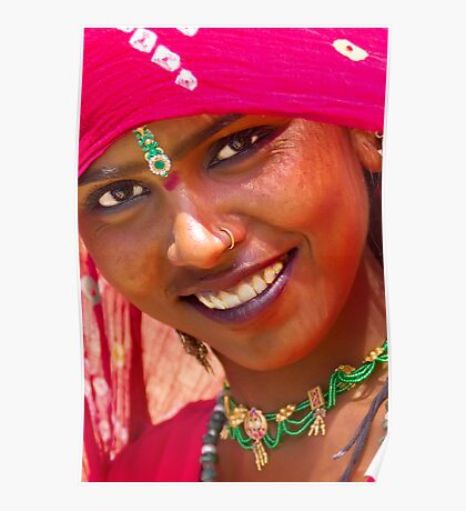 Tribal Woman-Rajasthan Poster