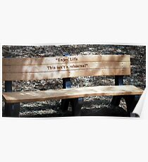 a bench to think upon  Poster