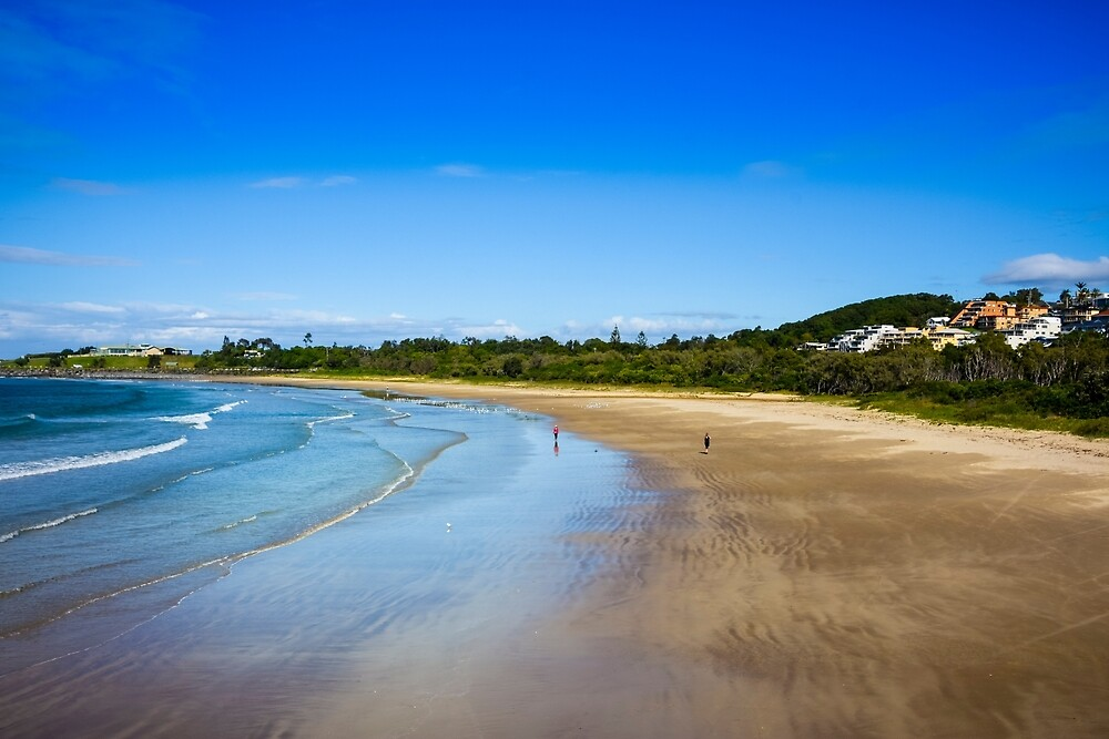 The beach at Coffs harbour, NSW, Australia by Michael Crawford-Hick