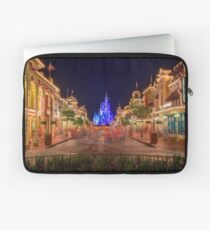 Nighttime On Main Street USA Laptop Sleeve