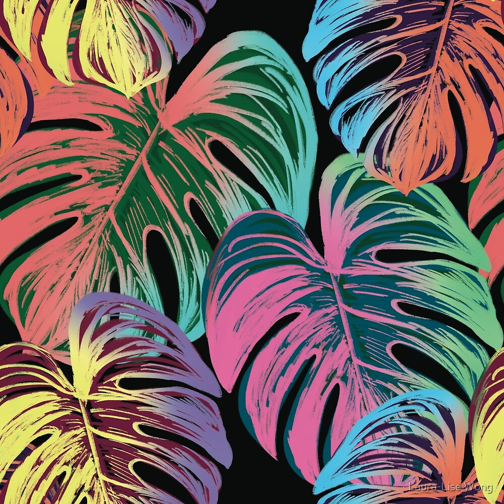 Palm Springs Neon Party Pattern by Laura-Lise Wong