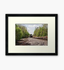 Train coming this way Framed Print