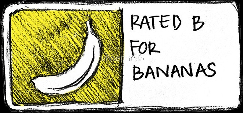 bananas! caution! by vivienne G