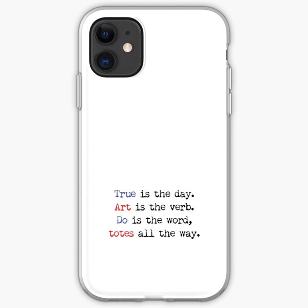 Art is the verb v1 iPhone Soft Case