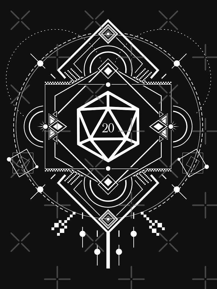 Minimalista D20 dados Símbolos sagrados de mesa Juegos de rol de pixeptional