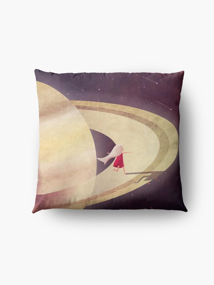 Alternative Ansicht von Saturn Kind Bodenkissen