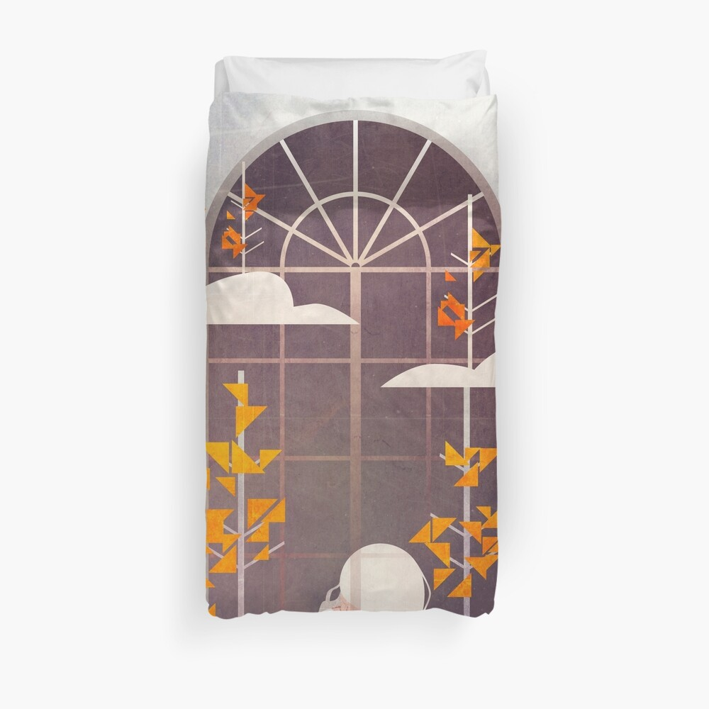 Quot Outside The Window Quot Duvet Cover By Annisatiarau Redbubble