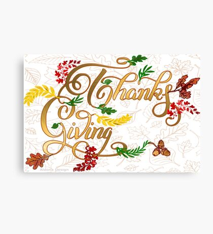 Thanks giving  & 3 leaves pattern ( 183 Views) Canvas Print