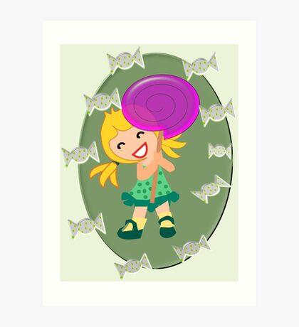 Lollipop Girl  (13675 views) Art Print