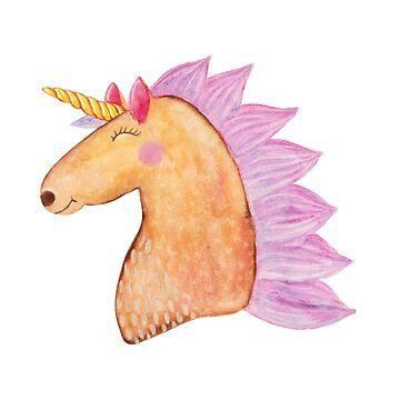 Happy Unicorn smile head by ullithehat