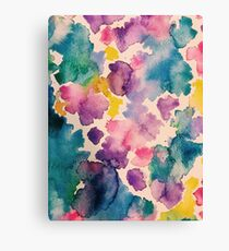 Watercolor : Wildflower  Canvas Print