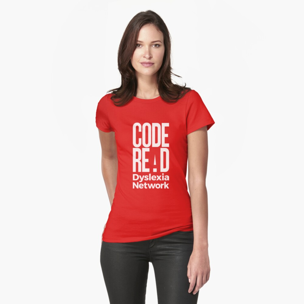 Code Read Dyslexia Network Fitted T-Shirt