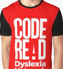 Code Read Dyslexia Network Graphic T-Shirt