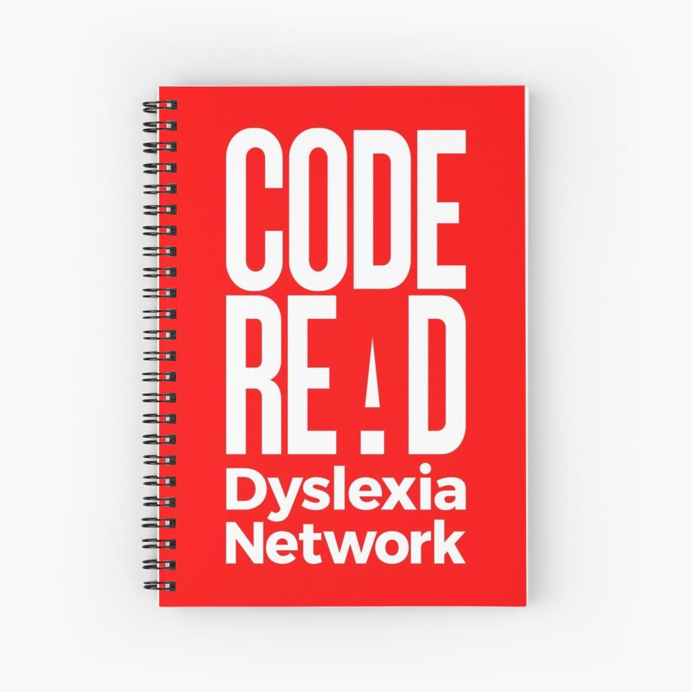 Code Read Dyslexia Network Spiral Notebook