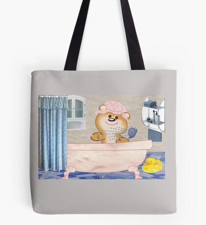 Teddy in the bath tub (6516 Views) Tote Bag