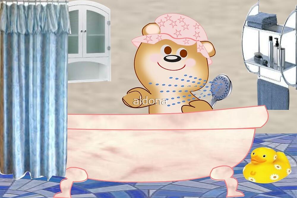 Teddy in the bath tub (6516 Views) by aldona