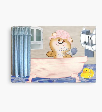 Teddy in the bath tub (6516 Views) Metal Print