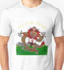 2012 - Year of the Dragon -  Gold Lettering Unisex T-Shirt