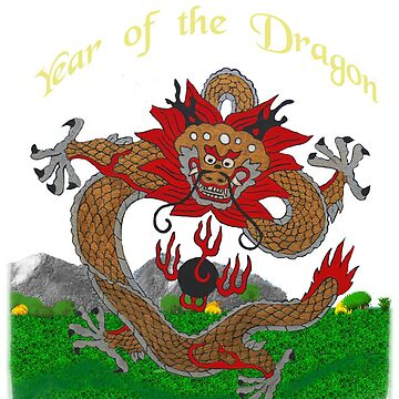 2012 - Year of the Dragon -  Gold Lettering by Sandra