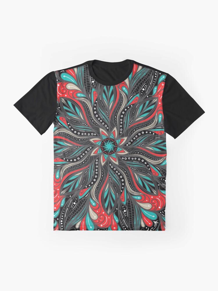 Vista alternativa de Camiseta gráfica Mandala Flowers