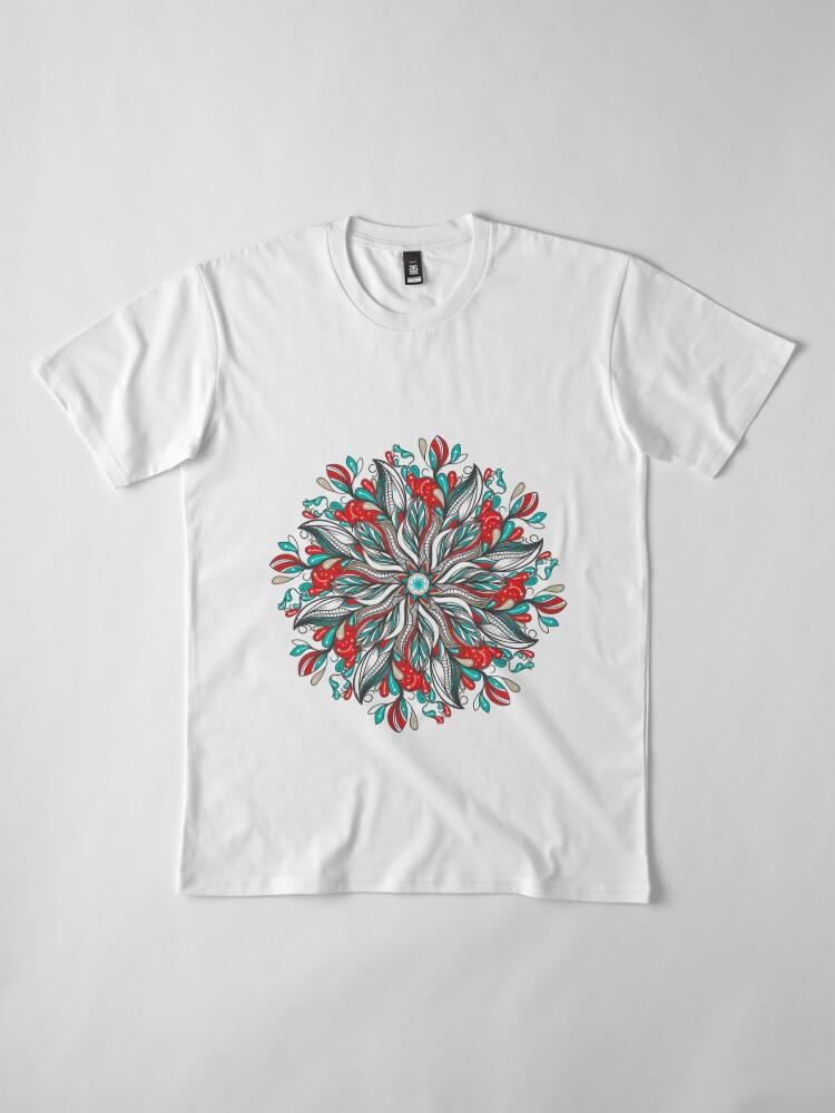 Vista alternativa de Camiseta premium Mandala Flowers