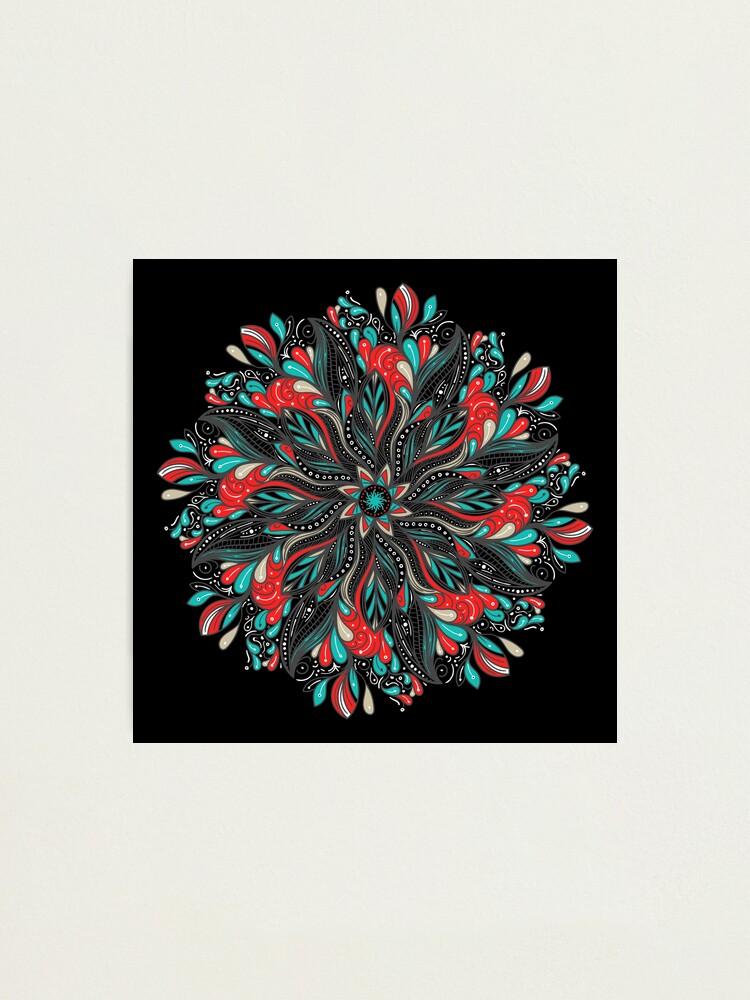 Vista alternativa de Lámina fotográfica Mandala Flowers