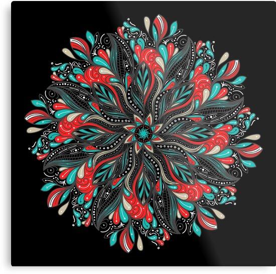 «Mandala Flowers» de angeldecuir