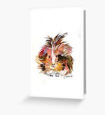 guinea pig Grußkarte