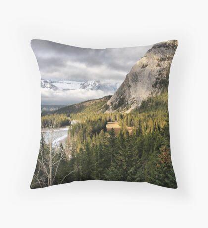 Rocky Mountains vista Throw Pillow