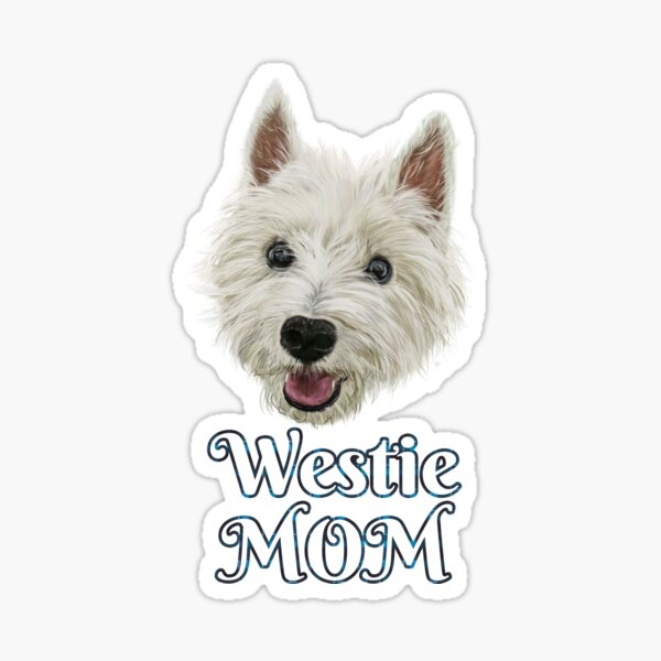 Westie Mom Smiling West Highland Terrier Sticker
