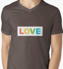 trendy romantic love inscription. valentine's day colourful lettering Men's V-Neck T-Shirt