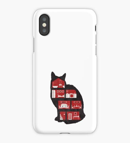 A cat makes a home iPhone Case