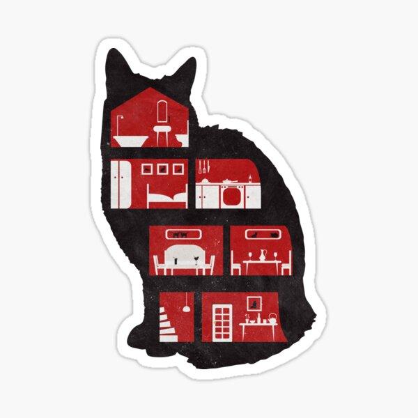A cat makes a home Sticker
