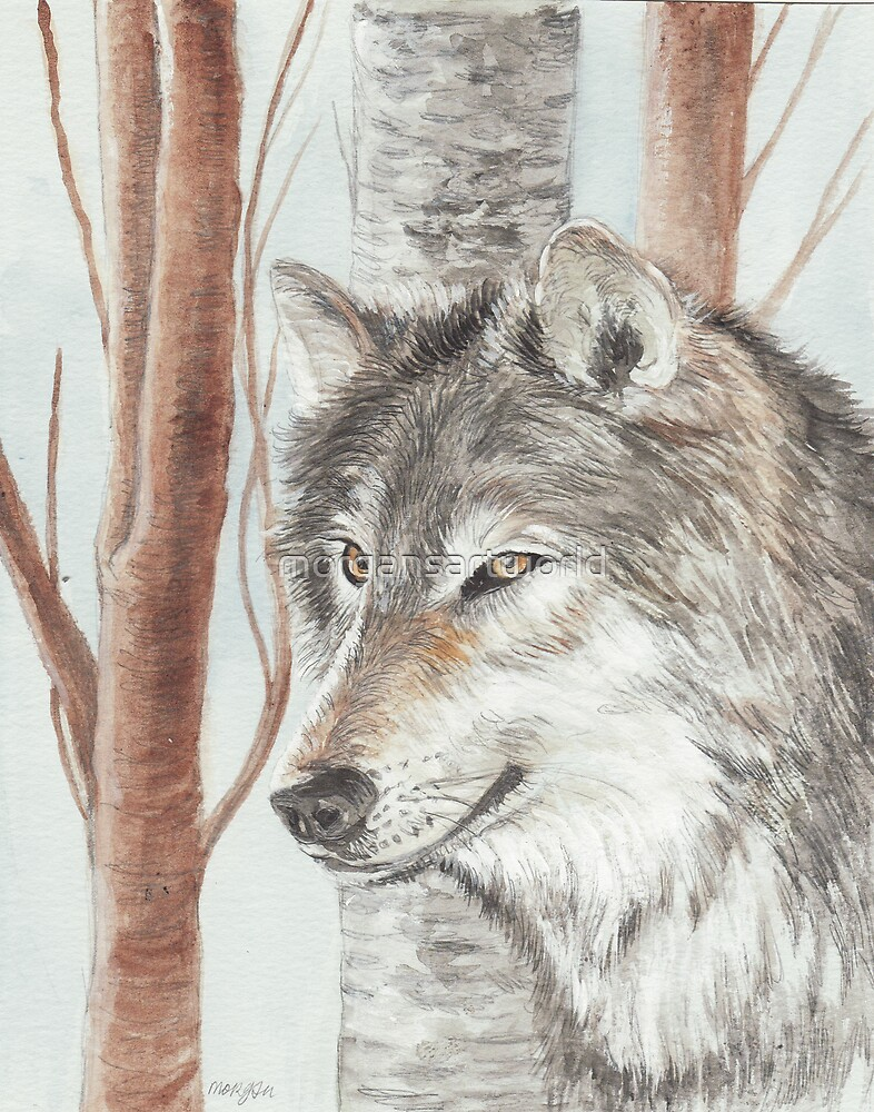 Timber Wolf by morgansartworld