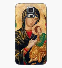 Our Lady of Perpetual Help, Russian orthodox icon, Madonna and Child, Virgin Mary  Case/Skin for Samsung Galaxy